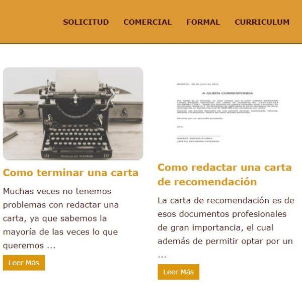 Modelos para cartas - Web Leopardo - SeoDeseo
