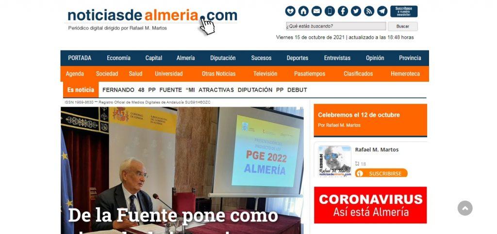 Noticias de Almeria - Novedades Octubre – Diciembre 2021 - SeoDeseo