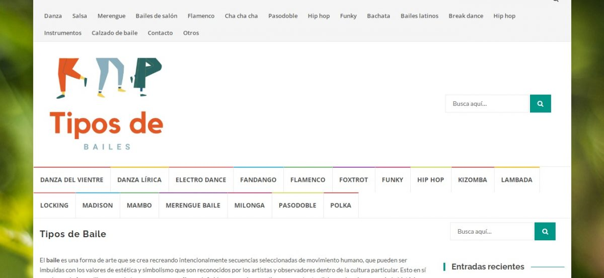TiposdeBailes - Web Leopardo - SeoDeseo