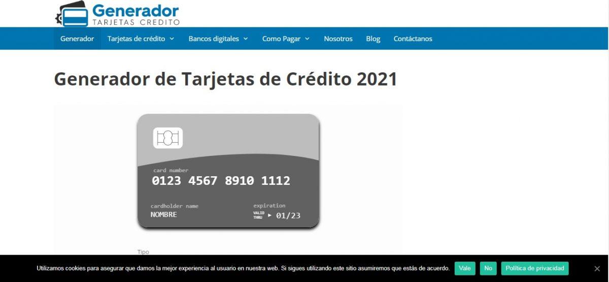 generadortarjetascredito.net - Web Leopardo - SeoDeseo